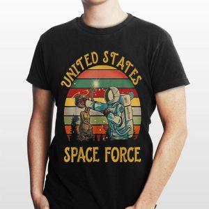 United States Space Force Punch Retro Vintage Sunset Tshirt shirt