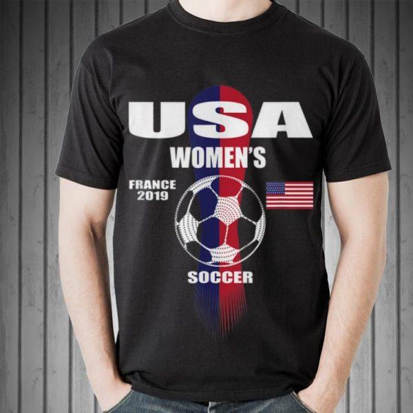 Usa Women's France 2019 Soccer American Flag sweater