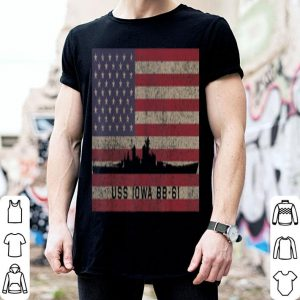 Uss Iowa Battleship Usa Flag shirt