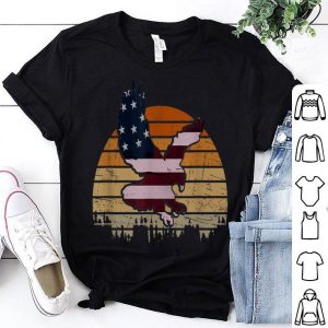 Vintage Flying Eagle American Flag 4Th Of July Patriotic shirt