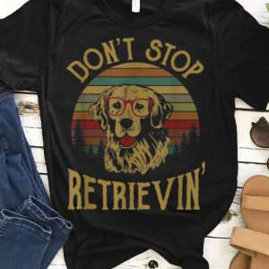 Vintage Golden Retriever Don't Stop Retrievin guy tee