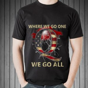 Where We Go One We Go All Qanon American Flag Thunder hoodie