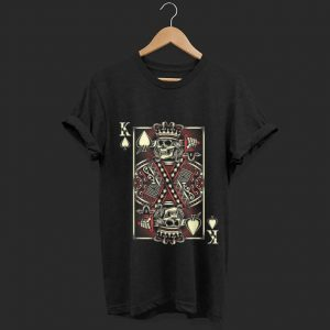 Wonderful The King of Hearts Playing Card Skull shirt