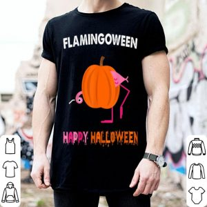 Awesome Flamingween Happy Halloween Cute Pumpkin Flamingo Gifts shirt