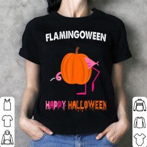 Awesome Flamingween Happy Halloween Cute Pumpkin Flamingo Gifts shirt