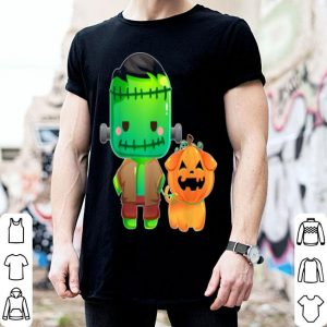 Awesome Frankenstein And Pumpkin Dog Halloween Gifts shirt