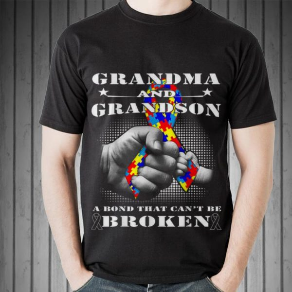 Awesome Grandma And grandson A Bond That Can't Be Broken shirt