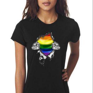 Awesome Superhero Ripped LGBT Gay Pride shirt 2