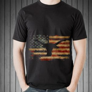 Awesome Vintage American Flag Longhorn shirt 1