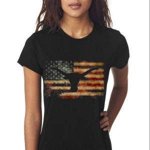 Awesome Vintage American Flag Longhorn shirt 2