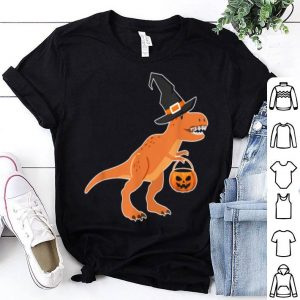 Beautiful T-rex Dinosaur Witch Halloween Funny Costume Gift shirt