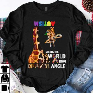 Funny Giraffe Autism Seeing The World From Different Angle Cancer Awareness shirt
