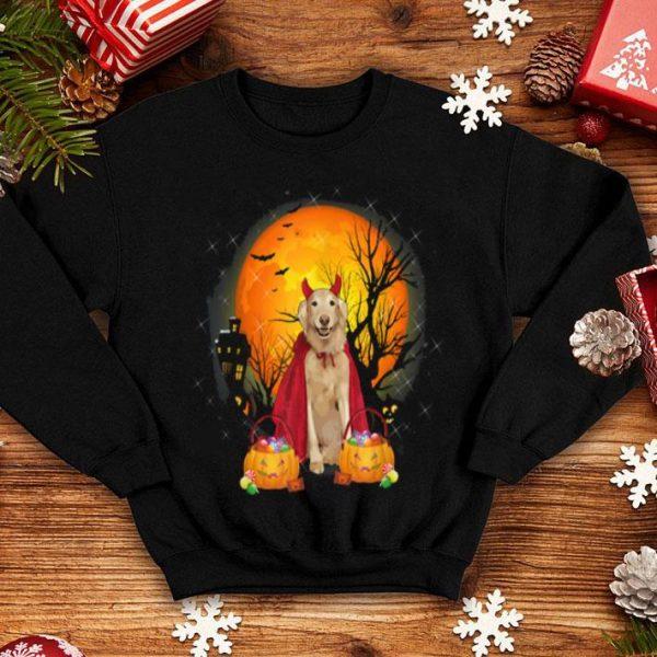 Funny Golden Retriever Dog With Candy Pumpkin Halloween shirt