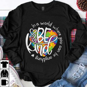 Funny In A World Where You Can Be Anything Be Kind shirt
