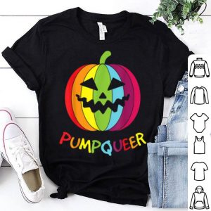 Funny Lgbt Gay Pumpkin Funny Halloween Costume Rainbow shirt