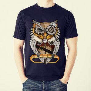 Funny Owl Gear Cogs Clockwork Steampunk Mechanical shirt 1
