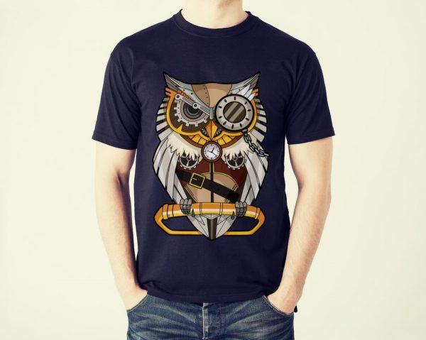 Funny Owl Gear Cogs Clockwork Steampunk Mechanical shirt