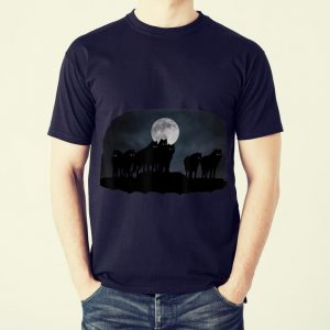 Funny Wolfpack and moon shirt 1