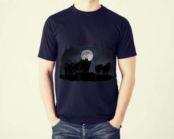Funny Wolfpack and moon shirt
