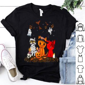 Nice Cats Witch Mummy Boo Scary Halloween Horror Costume shirt