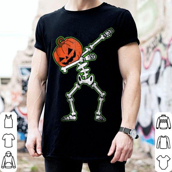 Official Dabbing Skeleton Pumpkin Halloween Dab shirt