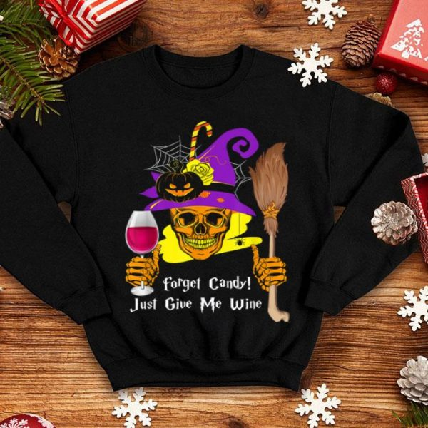 Official Forget Candy Give Me Beer Funny Wine Halloween shirt