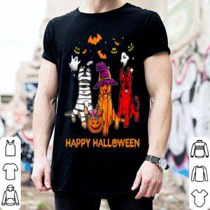 Official Happy Halloween German Shepherd Gift Pumpkin Mummy shirt