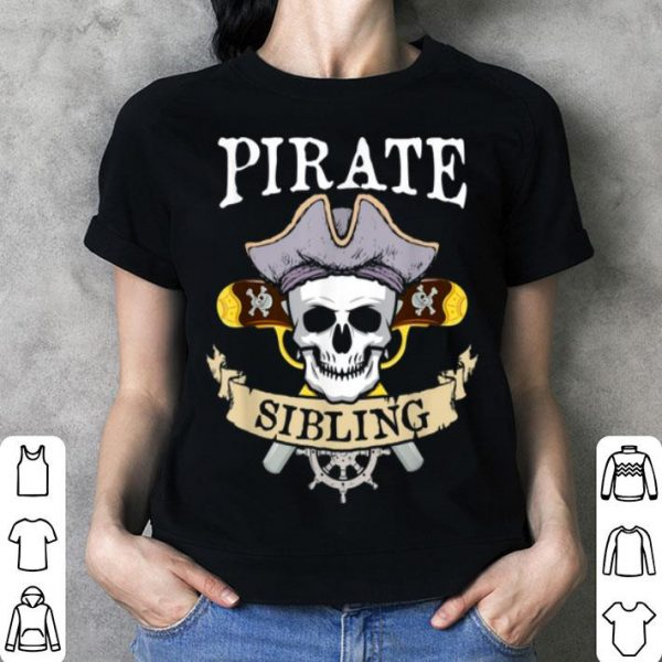 Official Pirate Sibling Halloween Matching Family Costume Gift shirt