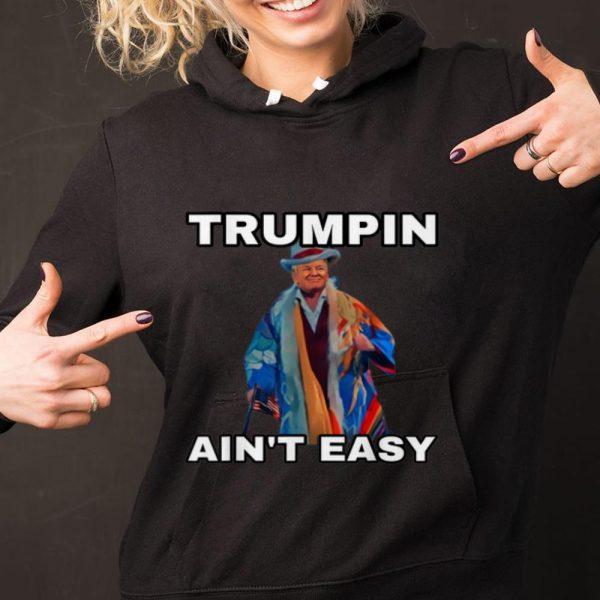 Original Trumpin Aint Easy American Flag shirt