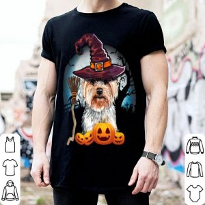 Premium Yorkshire Terrier Witch Hat Dog Halloween Costume Gift T-Shirt shirt