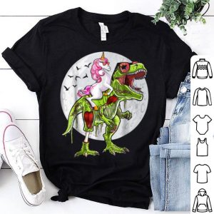 Top Funny Halloween Unicorn T Rex Dinosaur Zombie Costume shirt