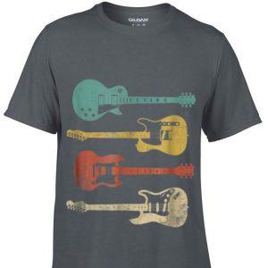 Top Vintage Electric Guitar Distressed guy tee