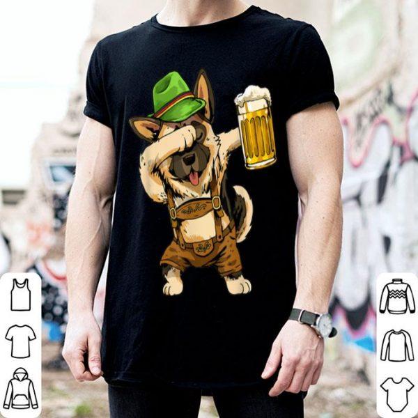 Awesome Dabbing German Shepherd Dab Men Prost Drinking Beer shirt