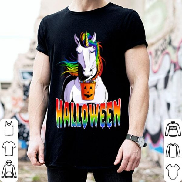 Awesome Halloween Unicorn Pumpkin Jack O' Lantern shirt