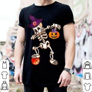Dabbing Skeleton Bowling Halloween Kids Womens Gifts shirt