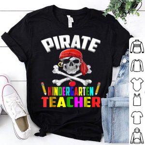 Funny Pirate Kindergarten Teacher Halloween shirt