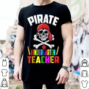 Funny Pirate Kindergarten Teacher Halloween shirt