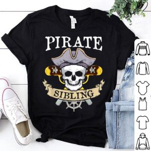 Funny Pirate Sibling Halloween Matching Family Costume Gift shirt