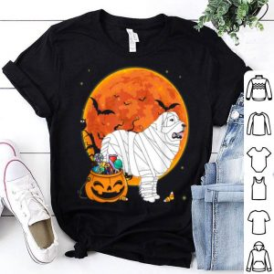 Great Pyrenees Dog With Candy Pumpkin Halloween shirt