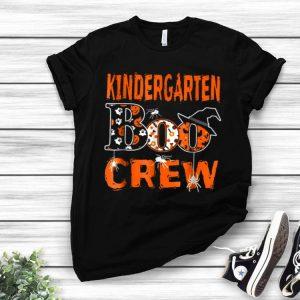 Halloween Kindergarten Boo Crew Teacher Kids shirt