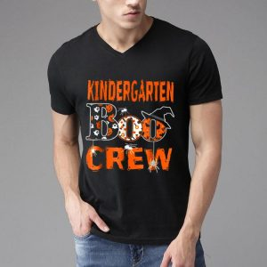 Halloween Kindergarten Boo Crew Teacher Kids shirt