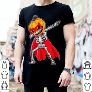 Hot Super Skeleton Pumpkin Dabbing Funny Halloween Dab shirt