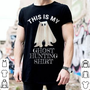 Hot This Is My Ghost Hunting Funny Halloween Cat Ghost shirt