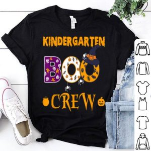Kindergarten Boo Crew Halloween Gift For Teachers And Kids shirt