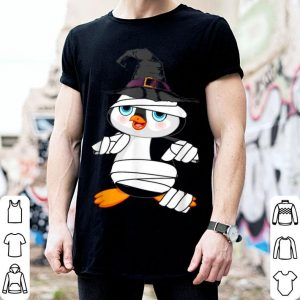 Nice Cool Penguin Mummy Hat Witch Costume Halloween shirt