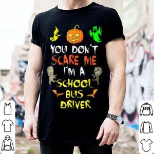 Nice Don't Scare Me School Bus Driver Halloween shirt
