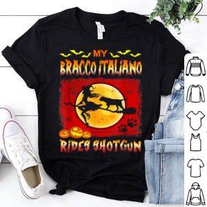 Nice My Bracco Italiano Rides Shotgun Halloween shirt