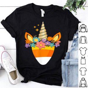Nice Unicorn Candy Corn Halloween Trick Or Treat Party Gift shirt