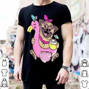 Official Pug Dog Flamingo Float For Men Women shirt