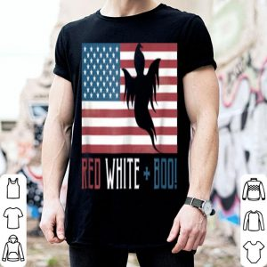 Official Red White And Boo Patriotic Ghost For Halloween shirt
